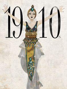 eko bintang, fashion illustration, 1910                                                                                                                                                                                 More