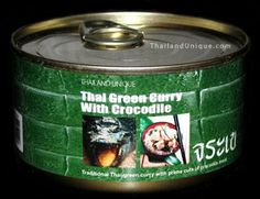 thai green curry with crocodile