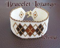 Bracelet Lozango crème