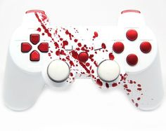 NEW RELEASE! Available EXCLUSIVELY at MODDEDZONE!  PS3 BLOOD SPLATTER MODDED CONTROLLER