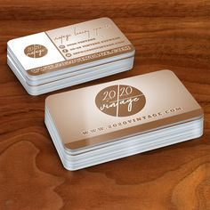 Premium Raised Gold Foil Business Cards Printed And Designed For