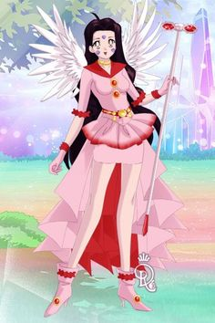 Skuld from Oh My Goddess. Version two. Made by Shannon Stickel using doll divine's senshi maker.