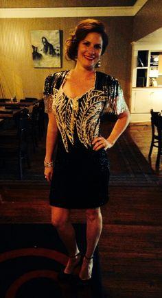 80's vintage sequin cocktail dress.