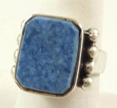 Vintage 925 Sterling Silver Stunning Sodalite Ring Size 6.5 (10.8g) - 369113 in Jewelry & Watches, Jewelry & Watches | eBay