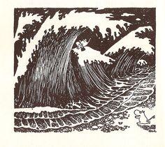 "Moominpappa meets Moominmamma --""The Exploits of Moominpappa"", by Tove Jansson (1950)"