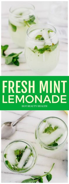 Looking for a non-alcoholic summer drink to cool off during the sweltering heat. Downing this Fresh Mint Lemonade is the best way to do that! It is so wonderfully refreshing, easy to make, and it's going to be a hit at your next party! #hotbeautyhealth #freshmintlemonade #mintlemonade #lemonaderecipe #lemonade #recipe #nonalcoholic #summerdrinks