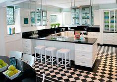 Cocinas modernas en blanco y negro