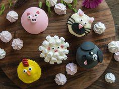 Bondegård cupcakes Scones, Frosting, Fondant, Muffins, Cupcakes, Sugar, Cookies, Desserts, Food