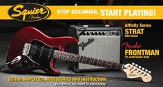 Affinity Stratocaster Packs with Frontman 15G Amp - Long & McQuade Top 10 Best Sellers Electric Guitars