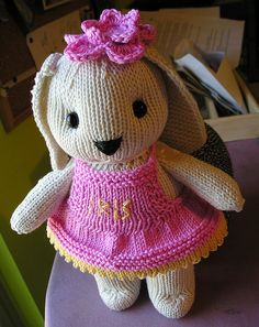 Knit your honey a bunny.