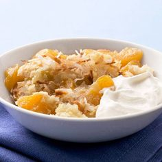Peach Macaroon Cobbler Recipe | Food Recipes - Yahoo! Shine