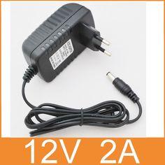 1PCS 12V2A AC 100V-240V Converter Adapter DC 12V 2A 2000mA Power Supply EU  Plug  5.5mm x 2.1-2.5mm for LED CCTV