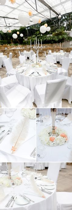 White decor (via Hochzeitswahn.de)