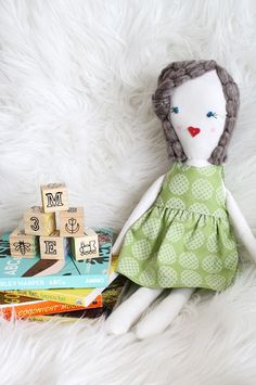 Grandparents are such a special thing. Growing up, my grandma would take me shopping, play ANYTHING I wanted (sorry, Grama!), and teach me little sewing projects. I remember making my first doll with her. She didn't really look like the one pictured above, but even with all her little quirks I loved her to pieces. In honor of my grandma, I fully intend to do these kinds of projects with...