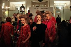 Backstage at Paul Costelloe, London Fashion Week, autumn/winter 2015-16.