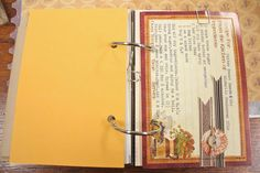 Mish Mash: Fall journal...recipe page + family page