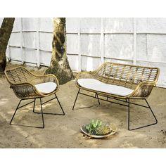 2-Sitzer-Gartenbank aus Kunstharz | Maisons du Monde