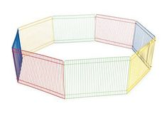 Ideal for hamsters, gerbils and other small pets Visually engaging, multi-color playpen Non-toxic and pet safe