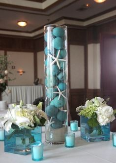 Beach Wedding Centerpiece Ideas. Pinned by Afloral.com from http ...