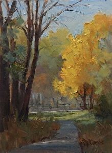 Autumn Stroll by Michele Combs in the FASO Daily Art Show