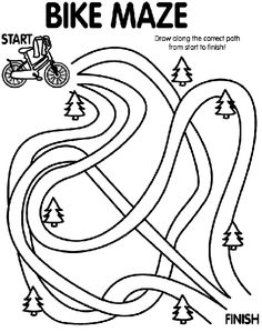 Can you find the finish line with this coloring page?