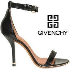 Givenchy black ankle strap stilettos