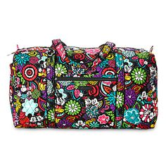 Disney Mickey's Magical Blooms Duffle Bag by Vera Bradley New with Tags You'll find Mickey and Minnie's colorful personalities are matched by the vibrant floral print on this duffle bag. Featuring Ver