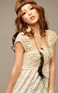New Women's Star Anna LACE BOHO Vtg Insp Tunic Dress Blouse 7-C31 S