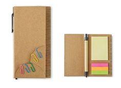 Notizzettel-Set mit Haftnotizen / Haftmarker, bunten Büroklammern und recycelbarem Kugelschreiber 5,20 Euro