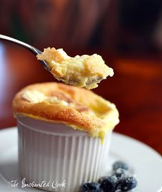 The Enchanted Cook: {Falling in Love with Lebovitz} Sweet Goat Cheese Souffles  use sukrin.