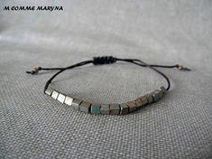 NOUVEAUTÉ Bracelet d'amitié minimaliste réglable en perles Turquoise Bracelet, Bracelets, Etsy, Jewelry, Minimalist, Unique Jewelry, Stones, Bangles, Jewellery Making