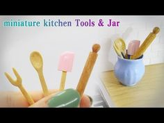 Doll kitchen#11 DIY miniature kitchen tools&jar 미니어쳐 주방도구,단지 - YouTube