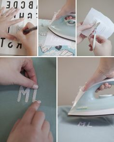 DIY // how to make iron-on letters out of any fabric!