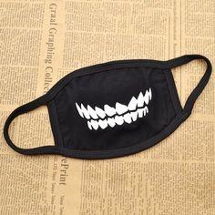 Amazon.com: Unisex Lips Teeth Expression Black Face Costume Mouth Mask Korean…