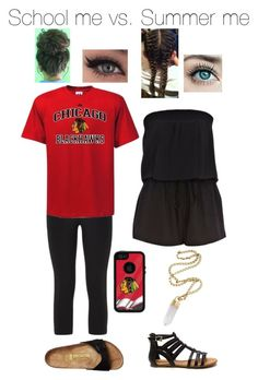 """""""Untitled #871"""" by bsalvinski6364 on Polyvore featuring NIKE, Heart Soul, River Island, Birkenstock and Bulgari"""