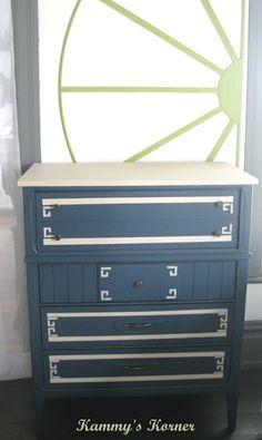 2 tone white dresser victorian
