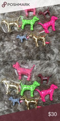 Victoria's Secret PINK dog BUNDLE! 7 dogsBrand new Victoria's Secret PINK dog BUNDLE! 7 dogs! Collectibles!  Brand new!  Perfect for gifts or collectibles! So cute too! Great deal! If I split them up, $12 each. 7 dogs for $30! NWT PINK Victoria's Secret Accessories