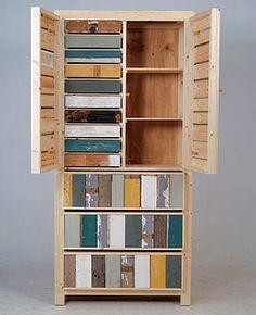 Piet Hein Eek cupboard  http://www.blog.designsquish.com/index.php?/site/scrap_wood_furniture_piet_hein_eek/