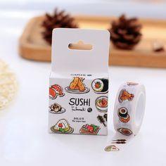 Yummy Sushi Washi Tape //Price: $7.95 & FREE Shipping //   #lovehippiecat #paper #scrapbooking #craft #papercrafts