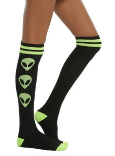 Loungefly Alien We Out Here Knee Socks