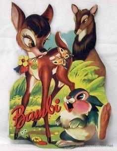 Cuento troquelado Bambi Editorial Vilcar años 60 con mariposa en el lomo Bambi…