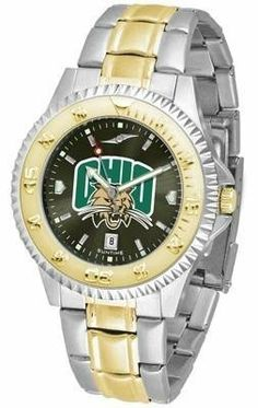 Ohio Bobcats Competitor AnoChrome Two Tone Watch by SunTime. $94.95. Links Make Watch Adjustable. Men. AnoChrome Dial Enhances Team Logo And Overall Look. Two-Tone Stainless Steel. Officially Licensed Ohio University OU Bobcats Men's Stainless Steel and Gold Tone Watch. The ultimate Ohio Bobcats fan's statement, our Competitor Two-Tone timepiece offers men a classic, business-appropriate look. Features a 23kt gold-plated bezel, stainless steel case and date function. Secures to ...