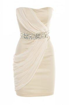 AX Chiffon Over Lay Jewel Dress    Looks like a Greek Princess