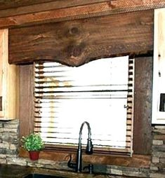 rustic window treatment for The kitchen Window Rustic Window Treatments, Bathroom Window Treatments, Valance Window Treatments, Window Coverings, Southwestern Window Treatments, Treatment Rooms, Western Decor, Rustic Decor, Rustic Wood