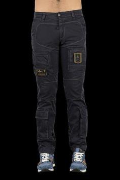 L Col Bright Pantalone In Felpa Aeronautica Militare Tg Blu