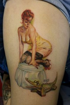 Vintage Style PinUp done by David Gonzalez @ Chico's Marked 4 Life The VIP ROOM in Miami