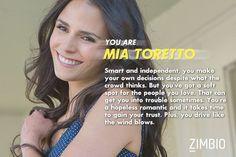 I've got my beautiful Mia Toretto