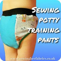 Learn how to make your own potty training pants for toddlers with our free sewing tutorial with step by step photo instructions.