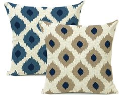 Lowest Price & FREE SHIPPING! https://www.rousetheroom.com/collections/all-home-decor-sales/products/navy-blue-and-beige-modern-tribal-pattern-throw-cushion-cover