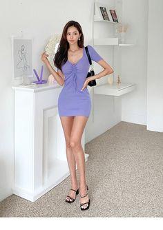 Asian Model Girl, High Neck Dress, Mini, Park, Dresses, Fashion, Beauty, Women, Turtleneck Dress